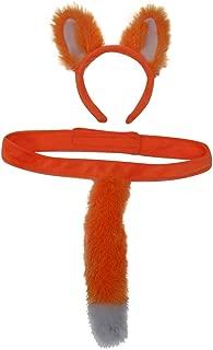Kids Plush Farm, Mythical, Woodland and Zoo Animals Headband Ears & Tail Costume Set (Choose Style)