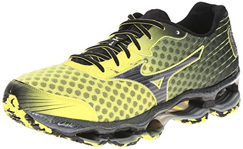 Mizuno Men's Wave Prophecy 4 Running Shoe,Bolt/Black,7.5 D US