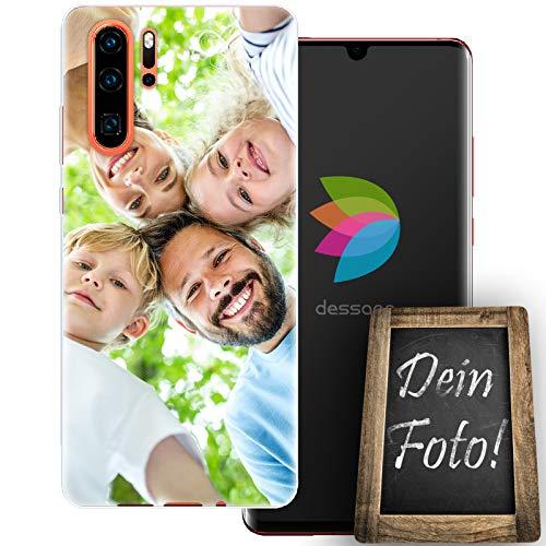 dessana Customize Eigenes Foto transparente Schutzhülle Handy Tasche Case für Huawei P30 Pro