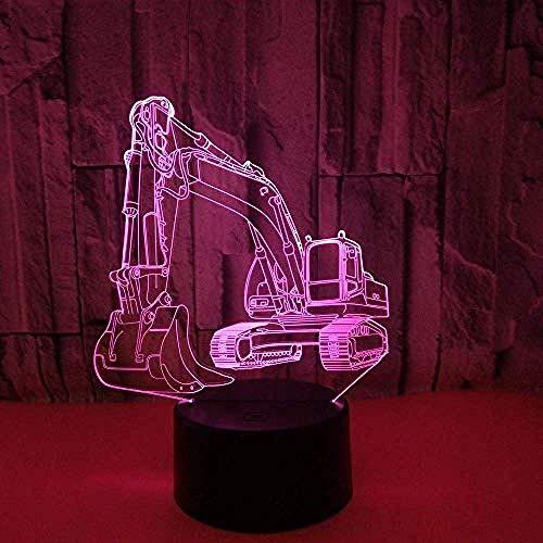 Bagger 3D Licht 7 Farbe Remote Touch Led Nachtlicht Neuheit Kleine Tischlampe USB Led Wireless 3D Lampe Schlafzimmer Lampe