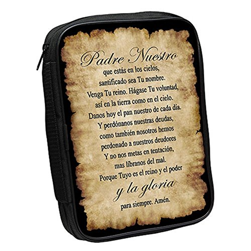 Positive Image Gifts Padre Nuestro Lords Prayer Hispanic Large Bible Cover 7 x 10 Inch Our Father New