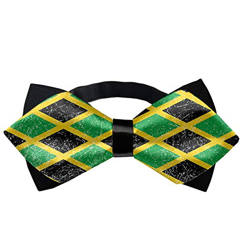 Jamaica Jamaican Flag Caribbean Novelty Tuxedo Bow Tie, Formal Suit Bowtie Gift for Men, Boys, Teens