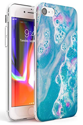 Case Warehouse Blue Lagoon Baño Bomba Slim Funda para iPhone 6 TPU Protector Ligero Phone Protectora con Moda Patrones Lujoso Moda Fizzies