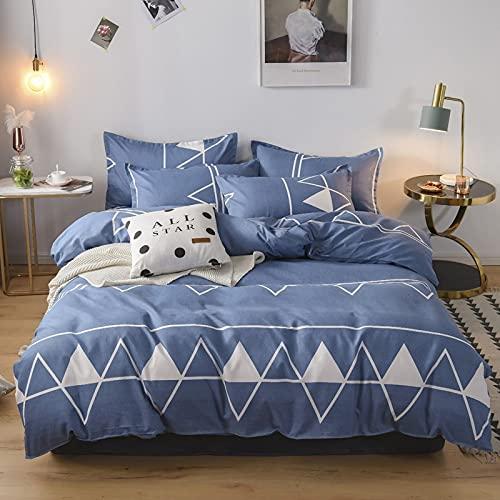 Morbido Conjunto de ropa de cama Dormitorio para niños Conjunto Dormitorio de dos caras Patrón de edredón Cubierta de almohada Hoja de cama Ropa de cama Set Doble reina rey para la decoración de la ro