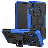 LiuShan Zenfone 5Z ZS620KL Custodia, Protettiva Shockproof Rigida Dual Layer Resistente agli Urti con cavalletto Caso per ASUS Zenfone 5Z ZS620K Smartphone,Blu