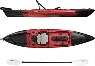 WDAM Fishing Kayak 130-12.96ft Foot Sit-on Fast Fishing Kayak with Paddle and Full-Day Support Seat