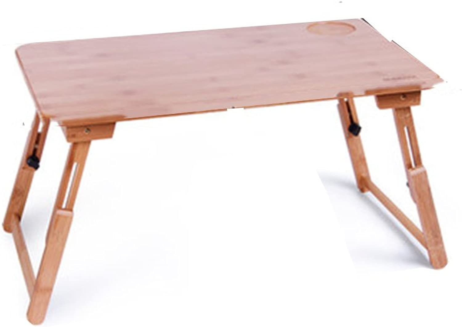 XUERUI Folding Tables Folding Computer Table Bed Can Be Used to Learn to Write Bamboo Material Wood color Two Types Can Be Selected (Size   L50cmW30cmH27cm)