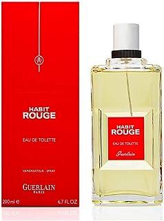 Habit Rouge By Guerlain For Men. Eau De Toilette 6.7 Ounces