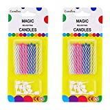 Wendy Mall 20PCS Magic Trick Relighting Candles Kids Brthday Cake Candle Party Novelty Joke Color Random