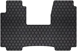 Intro-Tech Hexomat Front Row Custom Fit Floor Mat for Select Dodge Ram Promaster Models - Rubber-Like Compound (Black)