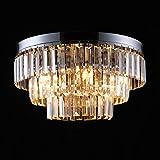 Asvert Lámpara Araña de Techo de Cristal, Ø40cm,H30cm G9 Lámpara de Techo de Cristal K9 para Recibidor, Barra, Cocina, Comedor, Habitación Niños