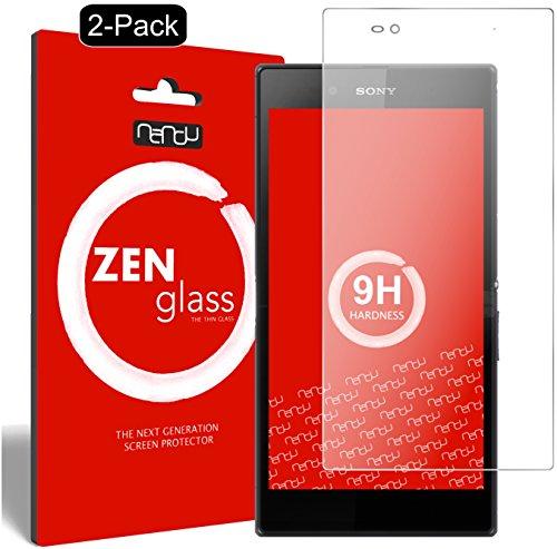 ZenGlass [2 Stück Flexible Glas-Folie kompatibel mit Sony Xperia Z Ultra Panzerfolie I Bildschirm-Schutzfolie 9H