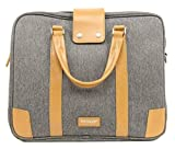 VENQUE Hamptons Slim Grey (Water-Resistant Minimulistic Design Lightweight Travel Business Briefcase Fits 15 inch Laptop)