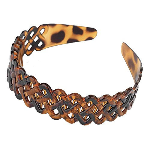 GIZZY® Ladies, Girls, Useful Lattice Head Band with Comb Inset. (Brown)