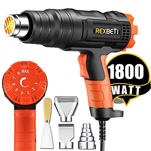 REXBETI 1800W Variable Temperature Heat Gun