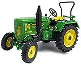 Traktor / Stabiles Blech / Zum Aufziehen mit Schlüßel / Voll funktionsfähig / Lenkung / Schaltung / Handbremse / -
