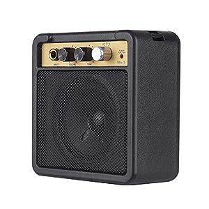 Fesjoy Guitar Amplifier Gitarren-Combos Gitarrenverstärker Combo Amp Verstärker für Gitarre Gitarre Verstärker Mini Gitarrenverstärker Amp Lautsprecher 5W mit 6,35 mm Eingang 1/4 Zoll Kopfhörerausgan