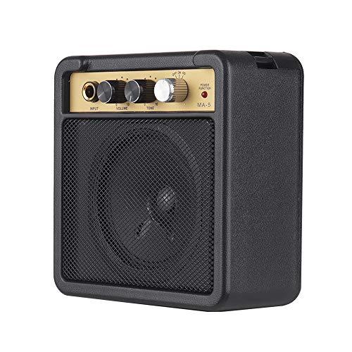 Mini Gitarrenverstärker Amp Lautsprecher 5W mit 6,35 mm Eingang 1/4 Zoll Kopfhörerausgang Unterstützt die Lautstärkeregelung Overdrive