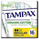 Tampax Cotton Protection regular con aplicador 16X, tampones de algodón orgánico de Tampax
