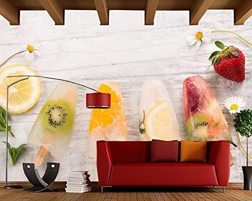 Süßigkeiten Eis Obst Essen 3D Foto Tapete Sofa Schlafzimmer TV Hintergrund Wohnzimmer Küche benutzerdefinierte Wandbild 280X200cm