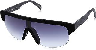 نظارة شمس كبيرة الحجم بعدسات متدرجة اللون للنساء من ايطاليا انديبندنت - ازرق