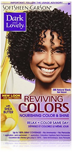 SoftSheen-Carson Dark and Lovely Reviving Colors Nourishing Hair Color & Shine, Natural Black 395