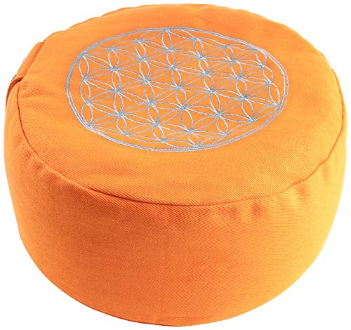 Berk YO-21-OR Meditations-Zubehör - Blume des Lebens Meditationskissen, orange