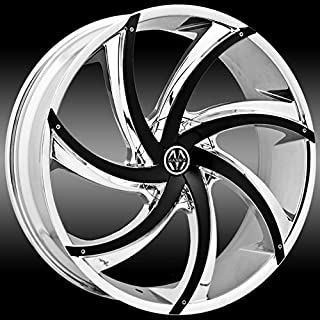 Massiv 920 Turbino 22x8.5 Chrome with Black Inserts Wheel / 5-115 5-120 mm Bolt Pattern / +15 mm Offset / 74.1 mm Hub Bore