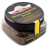 Caravel Gourmet Sal fina de mar Ahumada de Alderwood - Lentamente ahumado por un sabor perfecto - gluten, MSG, No-GMO, Kosher - 113.4 g.
