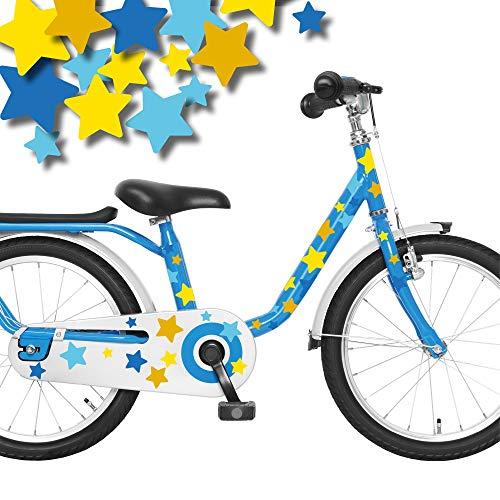 Wandtattoo Loft Fahrradaufkleber 54 STK. Blau Gelbe Sterne Junge Fahrrad Sticker Fahrraddesign Kinderfahrrad
