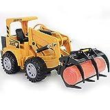IIIL Excavadora Horquilla Control Remoto RC, Madera Fundida Presión Tractor Construcción Adjunta Metal Carretilla Elevadora Tractor Simulación 1/24 5CH 2,4G