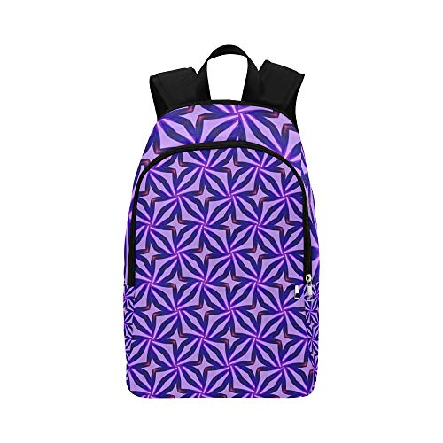 Blue Lilac Pattern Abstract Casual Daypack Travel Bag College School Backpack for Mens and Women