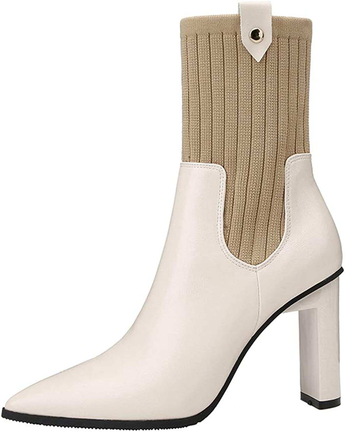 Women's Boots Chelsea Boots High-Heeled Pointed Martin Boots