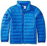 Amazon Essentials Kids Boys Light-Weight Water-Resistant Packable Puffer Jackets Coats, Blue, Small