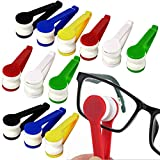 Mini Microfiber Spectacles Cleaner, Eyeglass Sun Glasses Cleaner, Soft Brush Cleaning Tool, Cleaning Clip, Microfiber, Super Light, Mini Size, Easy Use (12 Pack)