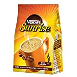 NESCAFÉ Sunrise instant coffee-chicory mixture is made from blends of 70% coffee and 30% chicory Our coffee journey begins with handpicking the best beans fom the coffee farms in South India Blends of arabica and robusta coffee beans are slow roasted...