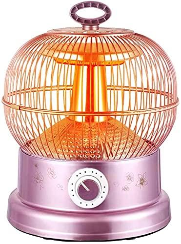 Radiador 220V 900W Cause de pájaros creativo CALENTADOR ELÉCTRICO INTERIOR - AJUSTE DE TEMPERATURA DE 2 ENGRANADORES - CALENTA DE 361 ° - Con protección antidumping: ventilador de calentador de mango