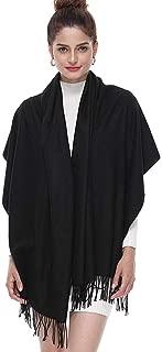 JHPMP Ladies Gift Idea Cashmere Pashmina Scarf Fashion Warm Wool Wrap Shawl Winter Stole for Women