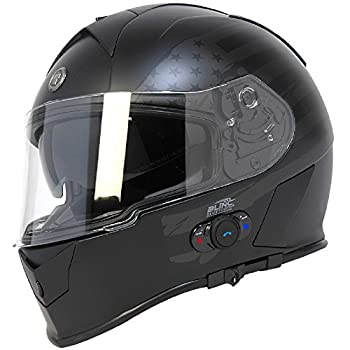 Torc T14B - Full Face Motorcycle Helmet with Bluetooth Integrated Mako
