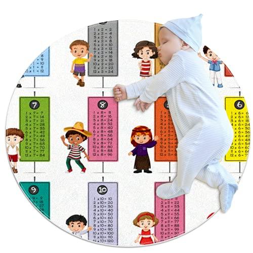 Happy Children Multiplication Mesas Alfombra Baby Floor Playmats Gatear Mat Juego Manta para la decoración de la habitación de los niños para bebés Niñas Sala de estar Cama