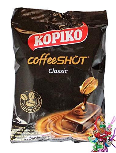 12er Pack KOPIKO Kaffee Bonbons [12x 150g] Delicious Coffee Candy + ein kleines Glückspüppchen - Holzpüppchen