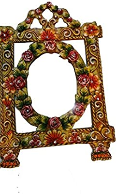 Wall Mirror Style Art Decal Mirror Wall Antique Mirror Kid Room Decor Crafted Rajasthani Makeup Mirror
