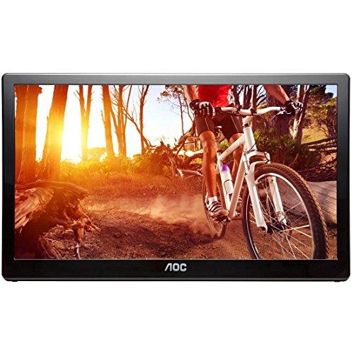 AOC e1659Fwu 16-Inch Ultra Slim 1366x768 Res 200 cd/m2 Brightness USB 3.0-Powered Portable LED Monitor (Renewed)