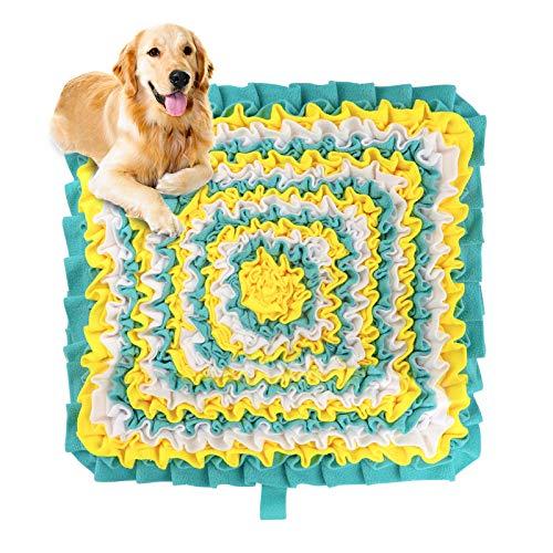 Karanice Schnüffeln Teppich Hunde Intelligenzspielzeug Futtermatte Waschbar Faltbar Geruch Rutschfestes Hundespielzeug Schnüffeln Spielzeug Trainingsmatte für Haustier Hunde Katzen 47 x 47 cm