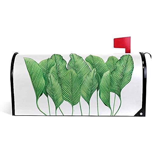 Dekorative tropische grüne Blätter des Gartens Magnetische Briefkastenabdeckung21 * 18 Zoll 21 * 18 Zoll