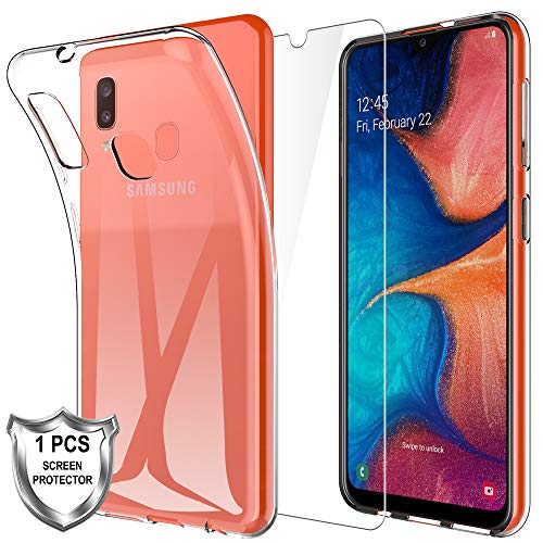 Galaxy A20e Clear Case Ultra Clear Transparent Soft Silicon Gel Case Cover for Galaxy A20e for Samsung Galaxy A20e Clear Case KP TECHNOLOGY for Samsung Galaxy A20e Case