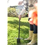 "Yard Butler Sod Plugger Zoysia St. Augustine Fescue Centipede Grass Lawn Turf Plug Cutter Tool SP-33 14 GREAT FOR TRANSPLANTING PLUGS OF ALL TYPES OF TURF GRASSES. Zoysia, Bermuda, Centipede, St. Augustine and many others so you can choose the best sod to repair your lawn. PICKS UP A 3"" X 3"" SQUARE PIECE OF SOD OR SOIL - the size of most commercially available grass plugs. Plugs fit tightly into prepared holes, ensuring better growth and survival for your turf. EASY EJECTOR HANDLE ELIMINATES BENDING OVER. Sawtooth blade and foot bar for extra leverage makes cutting into soil more manageable."
