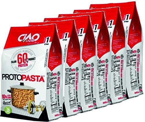 Pasta Proteica Fusilli 6 confezioni (6 x gr 200) Altissimo Contenuto di Proteine (60%) Ciao Carb