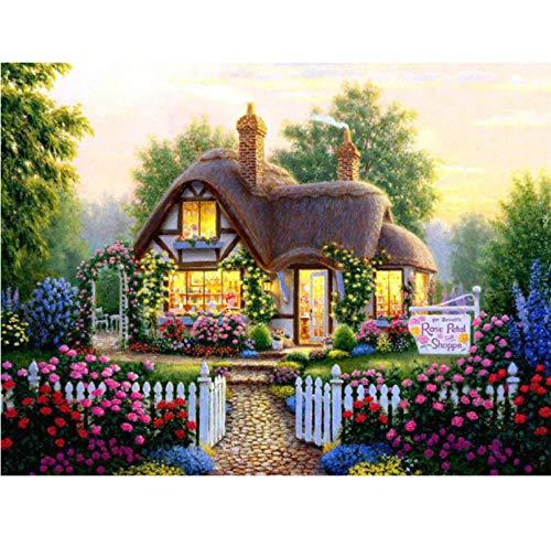 WACYDSD Puzzle 1000 Teile Romantisches Gartenhaus Aus Holz Classic Puzzle DIY Kit Holzspielzeug Unique Gift Home Decor