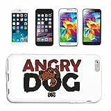 Reifen-Markt Hard Cover - Funda para teléfono móvil Compatible con Samsung Galaxy S3 Mini Angry Dog Bad Dog Divertido del Perro EN LA Muestra Publicidad CASA Perro